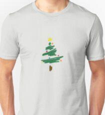 Brush Stroke Christmas Tree Unisex T-Shirt