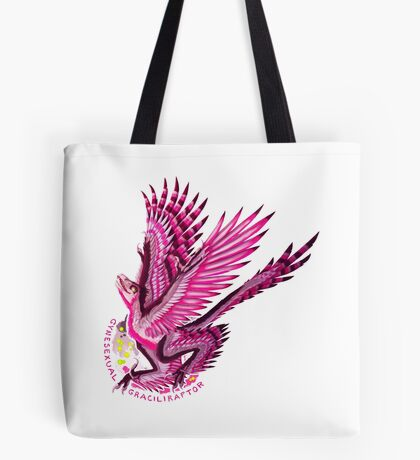 Gynesexual Graciliraptor (with text)  Tote Bag