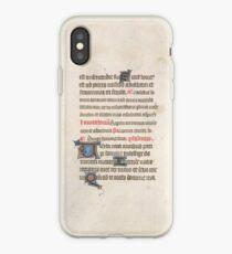 Medieval Illuminated Manuscript iPhone Case