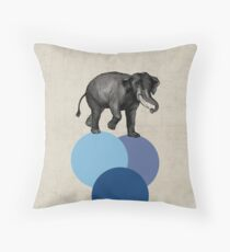 elephant balance Throw Pillow