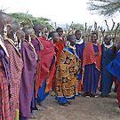 Maasai Women's Greeting, Tanzania by Adrian Paul