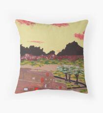 New Mexico Adobe Home Throw Pillow