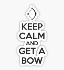 Keep Calm and Get A Bow T Shirt Sticker