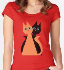 Feline Friends Women's Fitted Scoop T-Shirt