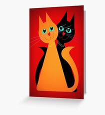 Feline Friends Greeting Card