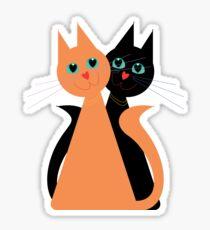 Feline Friends Sticker