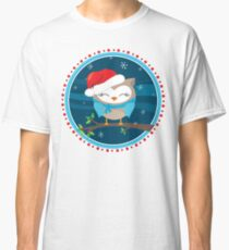 FESTIVE CHRISTMAS T-SHIRT :: boy owl night time Classic T-Shirt