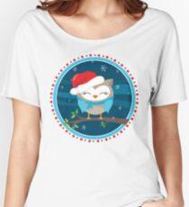FESTIVE CHRISTMAS T-SHIRT :: boy owl night time Women's Relaxed Fit T-Shirt