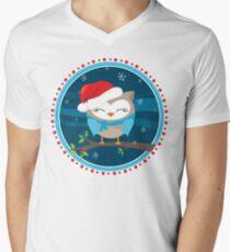 FESTIVE CHRISTMAS T-SHIRT :: boy owl night time T-Shirt