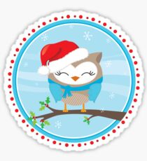 FESTIVE CHRISTMAS T-SHIRT :: boy owl day time Sticker