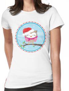 FESTIVE CHRISTMAS T-SHIRT :: girl owl day time T-Shirt