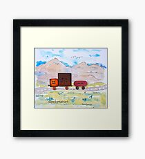 Button Truck and Trailer Framed Print