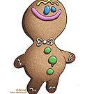 Jolly Gingerbread Man by JezLong