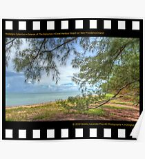 Nostalgia Collection • Islands of The Bahamas • Coral Harbour Beach on New Providence Island Poster