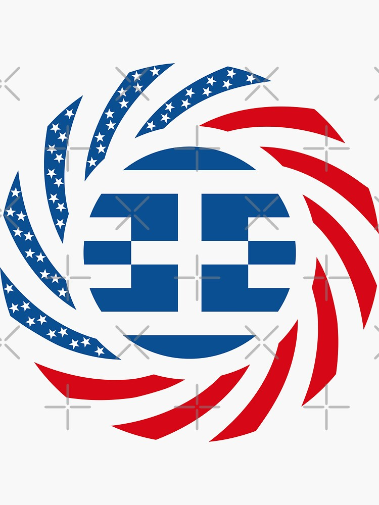 Greek American Multinational Patriot Flag Series by carbonfibreme