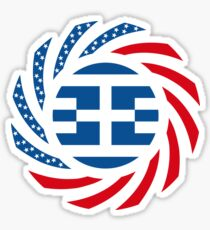Greek American Multinational Patriot Flag Series Sticker