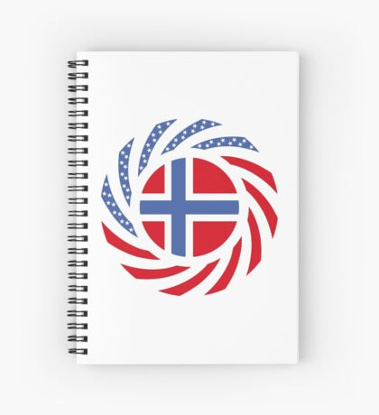 Bouvet American Multinational Patriot Flag Series Spiral Notebook