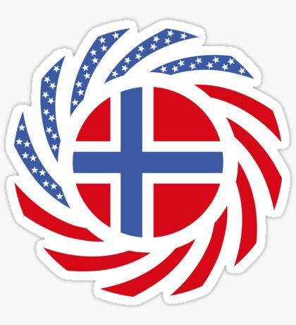 Bouvet American Multinational Patriot Flag Series Sticker