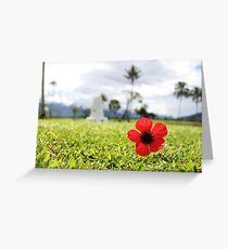 Kokoda Memorial Poppy Greeting Card