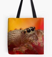 (Servaea vestita) Jumping Spider On Rose #3 Tote Bag