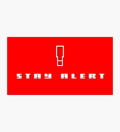 """""""Stay Alert"""" - Metal Gear Solid Photographic Print"""