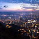Hong Kong night scene by hkavmode