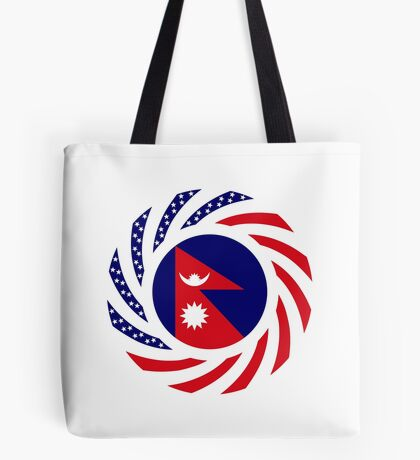 Nepalese American Multinational Patriot Flag Series Tote Bag