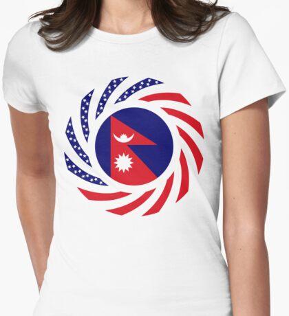 Nepalese American Multinational Patriot Flag Series T-Shirt