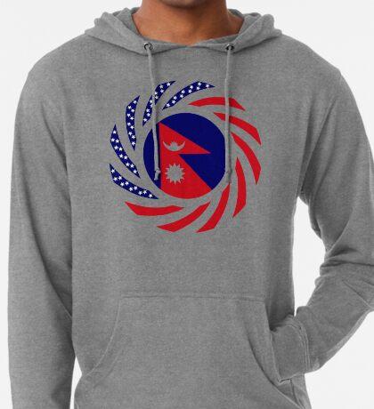 Nepalese American Multinational Patriot Flag Series Lightweight Hoodie
