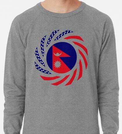 Nepalese American Multinational Patriot Flag Series Lightweight Sweatshirt
