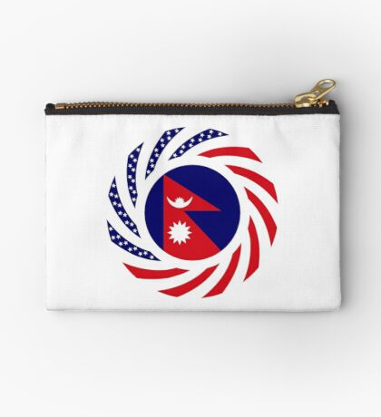 Nepalese American Multinational Patriot Flag Series Zipper Pouch