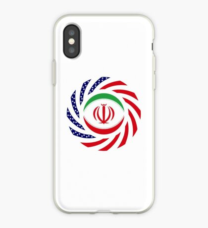 Iranian American Multinational Patriot Flag Series iPhone Case