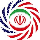 Iranian American Multinational Patriot Flag Series by Carbon-Fibre Media