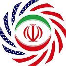 Iranian American Multinational Patriot Flag Series by Carbon-Fibre Media