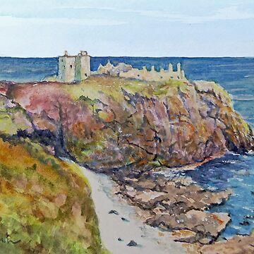 Dunnottar Castle Scotland by marshstudio