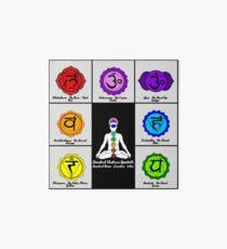 Yoga Reiki Seven Chakras Symbols chart Art Board