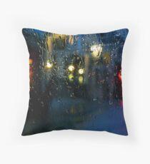 A Shiny Rainy Night Throw Pillow