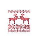 Christmas Jumper Red on White by EF Fandom Design