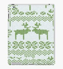 Christmas Jumper Green on White iPad Case/Skin