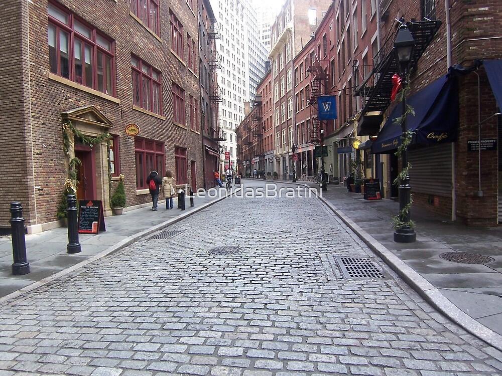 Stone Street in New York by LeonidasBratini