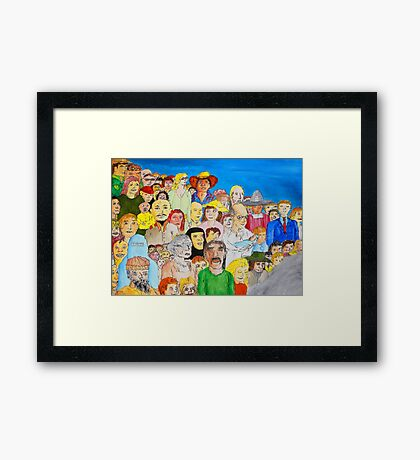The day the world united as one Framed Print