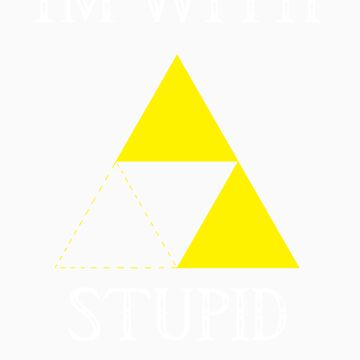 Triforce - I'm with stupid (B) by DrGluefoot