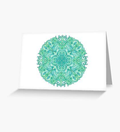 - Azure mandala - Greeting Card