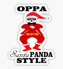 ★ټOppa Santa-Panda Style Hilarious Clothing & Stickersټ★ Sticker