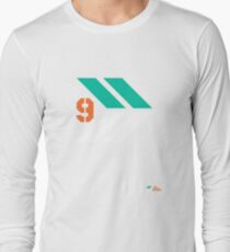 Arrows 1 - Emerald Green/Orange/White Long Sleeve T-Shirt