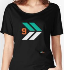 Arrows 1 - Emerald Green/Orange/White Women's Relaxed Fit T-Shirt