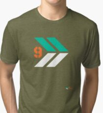 Arrows 1 - Emerald Green/Orange/White Tri-blend T-Shirt