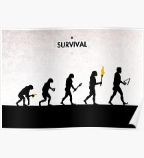 99 Steps of Progress - Survival Poster