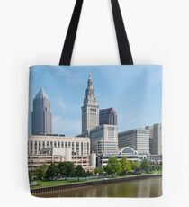 Tower City Skyline Tote Bag