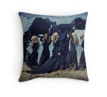Prelude to the storm Throw Pillow